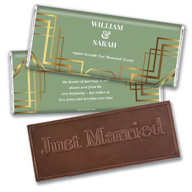 Personalized Classic Wedding Embossed Chocolate Bars