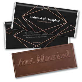 Personalized Growing Love Wedding Embossed Chocolate Bars