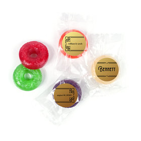 Personalized Wedding Love is Golden LifeSavers 5 Flavor Hard Candy