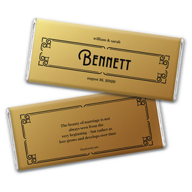 Personalized Love is Golden Wedding Chocolate Bars