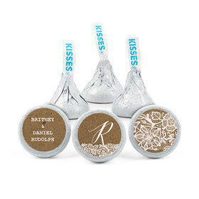 Personalized Wedding Floral Lace Hershey's Kisses (50 pack)