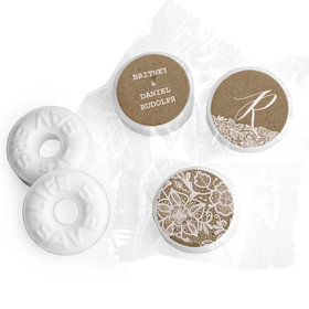 Personalized Wedding Floral Lace LifeSavers Mints