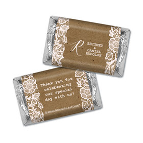 Personalized Floral Lace Wedding Hershey's Miniatures