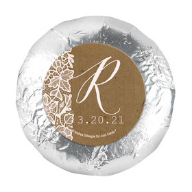 """Personalized Wedding Floral Lace 1.25"""" Stickers (48 Stickers)"""