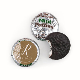 Personalized Wedding Floral Lace Pearson's Mint Patties