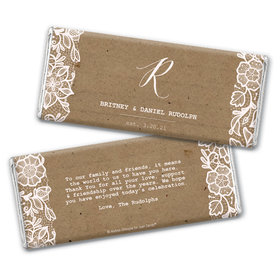 Personalized Floral Lace Wedding Chocolate Bars