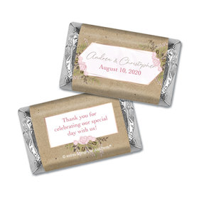 Personalized Botanical Border Wedding Hershey's Miniatures