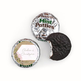 Personalized Wedding Botanical Border Pearson's Mint Patties