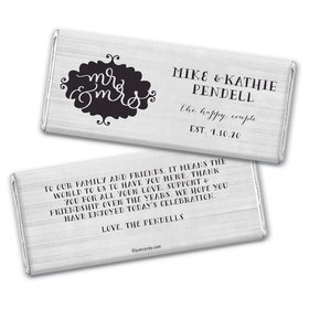 Personalized The Happy Couple Wedding Chocolate Bars
