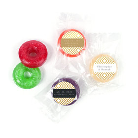 Personalized Wedding Love & Bliss LifeSavers 5 Flavor Hard Candy