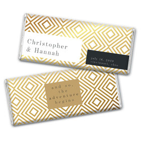 Personalized Love & Bliss Wedding Chocolate Bars