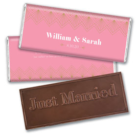 Personalized Lace & Love Wedding Embossed Chocolate Bars