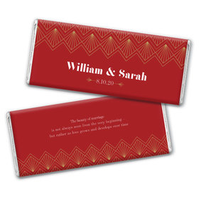 Personalized Lace & Love Wedding Chocolate Bars