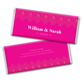 Personalized Lace & Love Wedding Chocolate Bar Wrappers Only