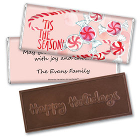 Personalized Embossed Chocolate Bar - Christmas 'Tis the Season