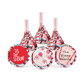 Personalized Christmas Peppermint Tis the Season Hershey's Kisses (50 pack)