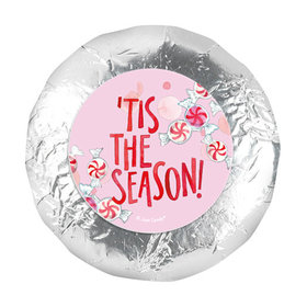 """Personalized 1.25"""" Stickers - Christmas 'Tis the Season (48 Stickers)"""