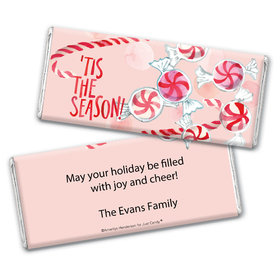 Personalized Chocolate Bar Wrappers Only - Christmas 'Tis the Season