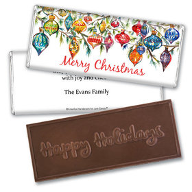 Personalized Embossed Chocolate Bar - Christmas Ornaments