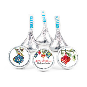 """Personalized 3/4"""" Stickers- Christmas Ornaments (108 Stickers)"""