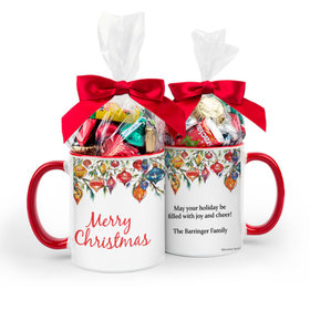 Personalized Christmas Ornaments 11oz Mug with Hershey's Holiday Mix
