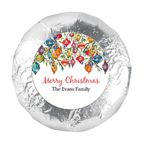 "Personalized 1.25"" Stickers - Christmas Ornaments (48 Stickers)"