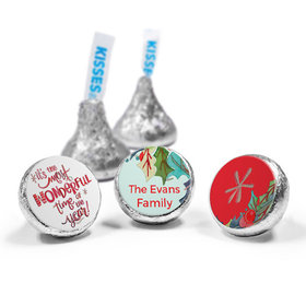 Personalized Hershey's Kisses - Christmas Wonderful Time (50 Pack)