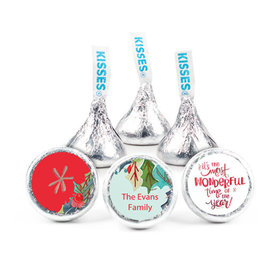"""Personalized 3/4"""" Stickers- Christmas Wonderful Time (108 Stickers)"""
