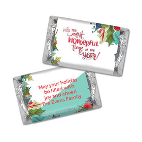Personalized Hershey's Miniatures - Christmas Wonderful Time