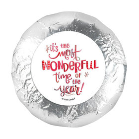 """Personalized 1.25"""" Stickers - Christmas Wonderful Time (48 Stickers)"""