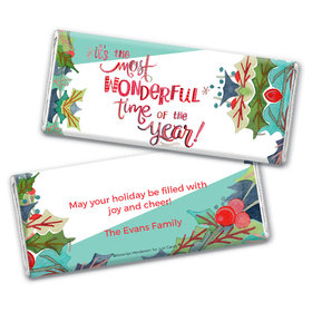 Personalized Chocolate Bar Wrappers Only - Christmas Wonderful Time