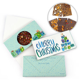Personalized Christmas Tree Presents Christmas Gourmet Infused Belgian Chocolate Bars (3.5oz)