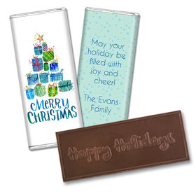 Personalized Embossed Chocolate Bar - Christmas Presents