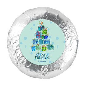 """Personalized 1.25"""" Stickers - Christmas Presents (48 Stickers)"""