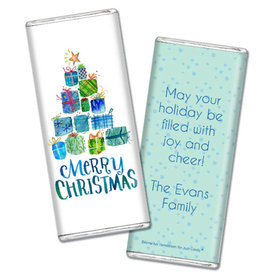 Personalized Chocolate Bar & Wrapper - Christmas Presents