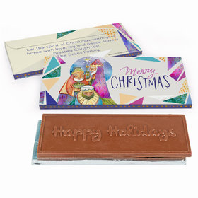 Deluxe Personalized Christmas Wise Men Chocolate Bar in Gift Box