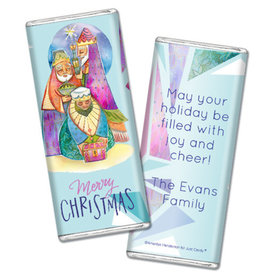 Personalized Chocolate Bar & Wrapper - Christmas Wise Men