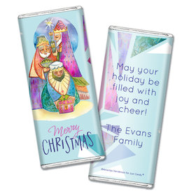 Personalized Chocolate Bar Wrappers Only - Christmas Wise Men