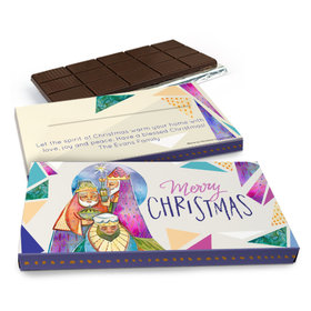 Deluxe Personalized Christmas Wise Men Chocolate Bar in Gift Box (3oz Bar)