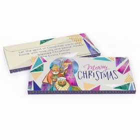 Deluxe Personalized Christmas Wise Men Candy Bar Favor Box