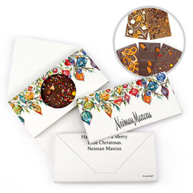 Personalized Add Your Logo Ornaments Christmas Gourmet Infused Belgian Chocolate Bars (3.5oz)