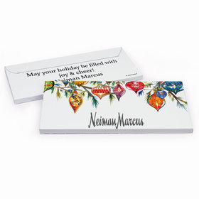 Deluxe Personalized Christmas Add Your Logo Ornaments Chocolate Bar in Gift Box