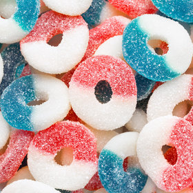 Freedom Gummi Rings - Red, White, and Blue