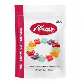 Mini Gummi Butterflies Resealable Bag