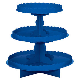 Royal Blue 3 Tier Cupcake Stand