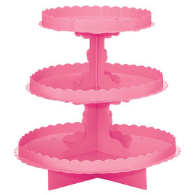 Pink 3 Tier Cupcake Stand