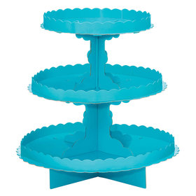 Caribbean Blue 3 Tier Cupcake Stand