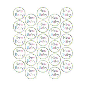 New Baby Metallic Seals (25 Count)