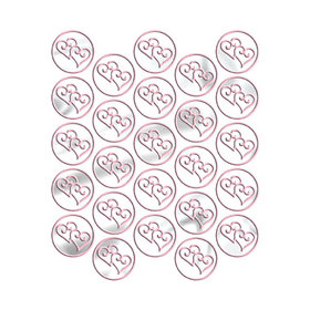 Metallic Pink Heart Seals (25 Count)