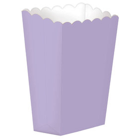 Small Paper Popcorn Boxes Lavender (5 Pack)